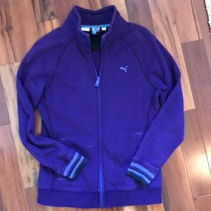 Puma jacket dry cell purple size Large